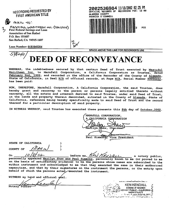Deed Of Reconveyance  Real Estate Blog